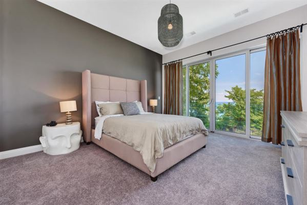 Stylish Lake Michigan home with spectacular views luxury real estate