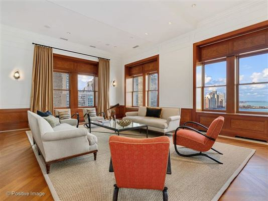 Luxury homes dramatic penthouse in a classic vintage building