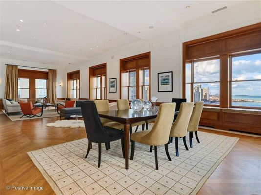 Luxury real estate dramatic penthouse in a classic vintage building