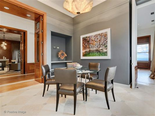 Luxury properties dramatic penthouse in a classic vintage building