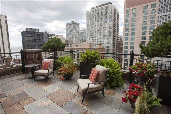 dramatic penthouse in a classic vintage building luxury real estate