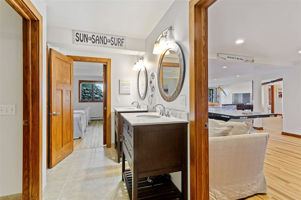 Luxury real estate spectacular Lake Michigan home with sandy beach