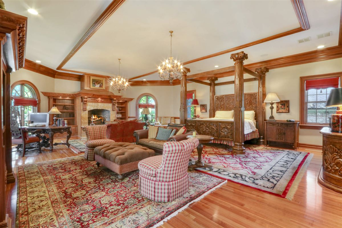 magnificent estate is set on five acres luxury homes