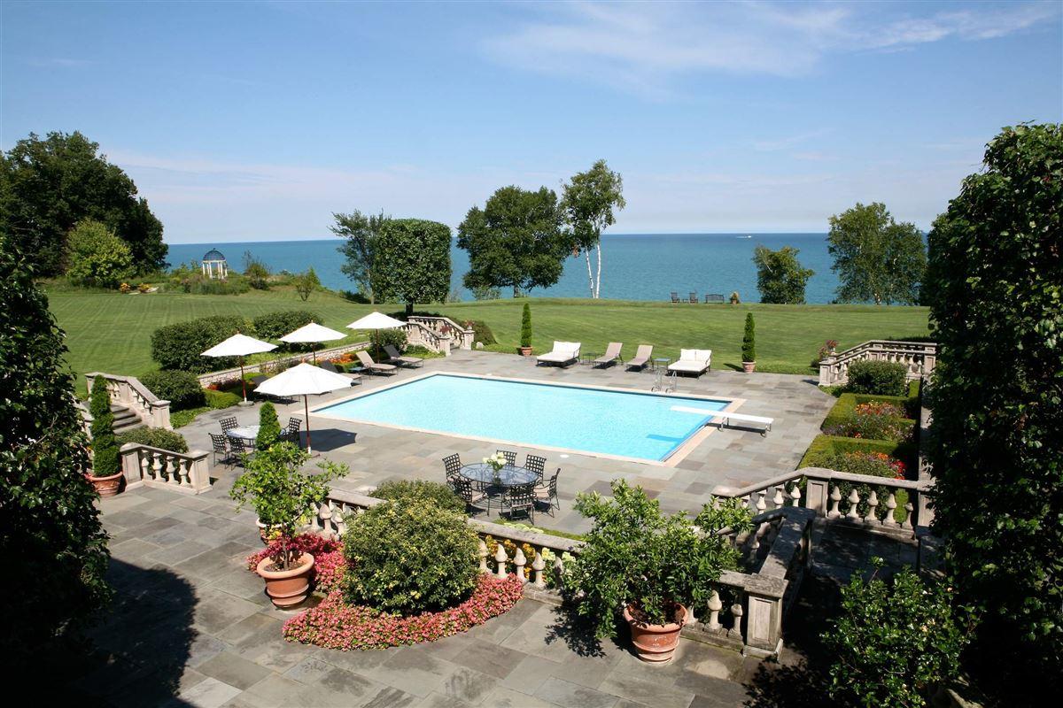 magnificent 12-plus-acre estate on Lake Michigan  luxury real estate
