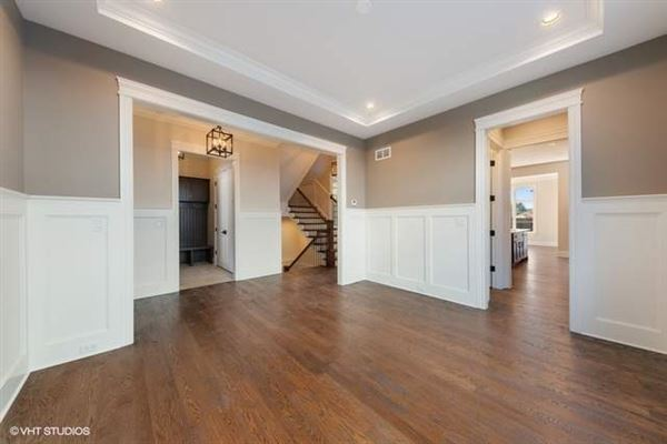 Luxury real estate Stunning home features a large paver patio and a new fence