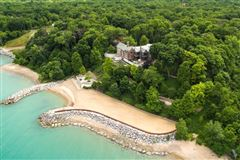 magnificent estate overlooking Lake Michigan luxury homes