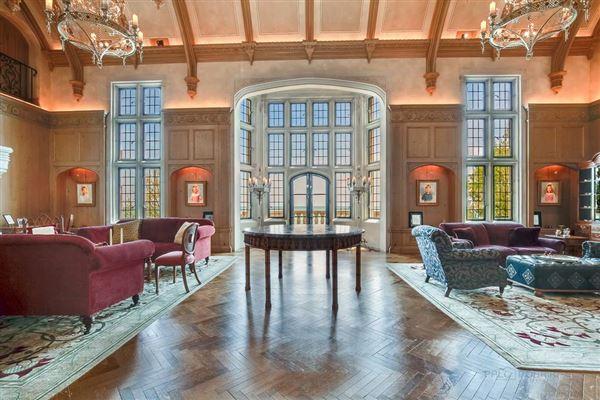 Luxury properties magnificent estate overlooking Lake Michigan