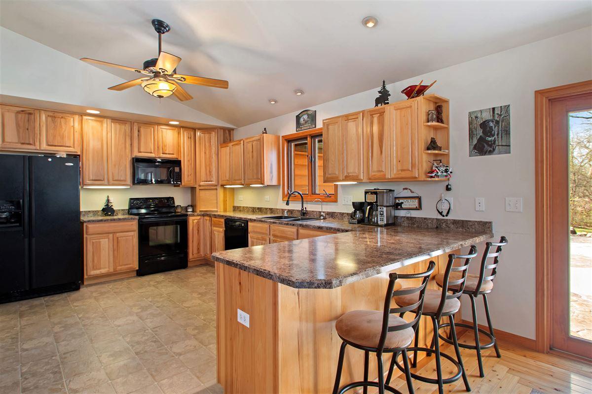 Luxury real estate custom log cabin home