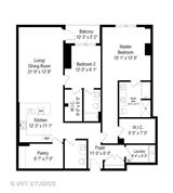 sophisticated two bedroom at Webster Square luxury homes
