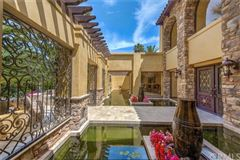 Luxury homes in grand Mediterranean residence includes a courtyard