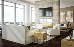 Luxury properties blank canvas on the top floor