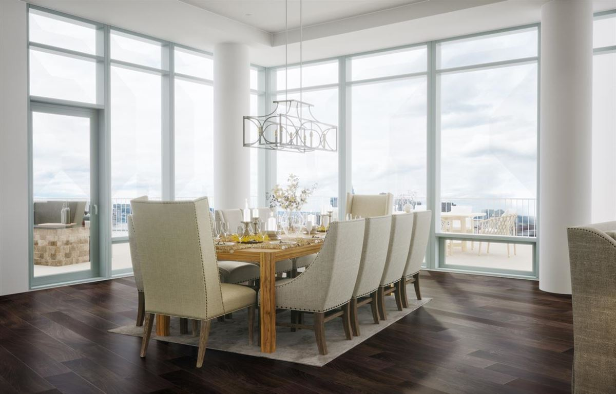 Luxury homes blank canvas on the top floor