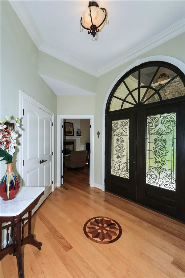 Beautiful custom ranch on three wooded acres luxury homes