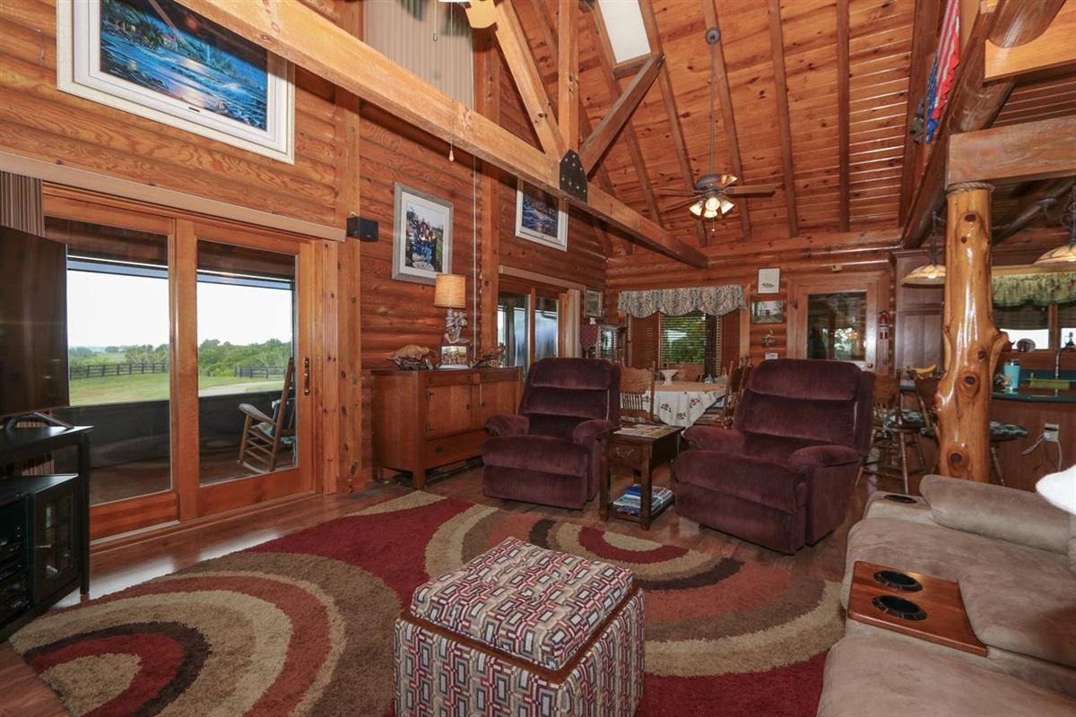 Luxury properties Beautiful, 79-acre equestrian estate with log home