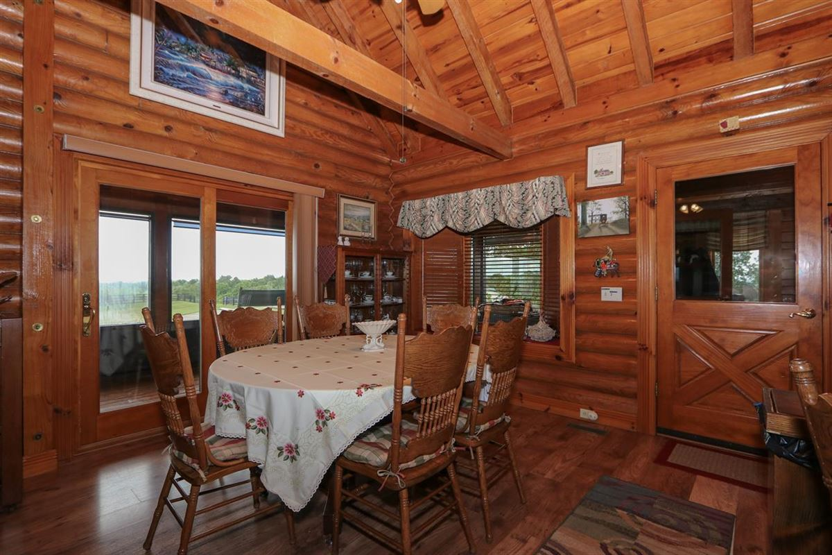Beautiful, 79-acre equestrian estate with log home luxury properties