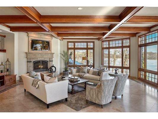Mansions in unique custom home on private peninsula