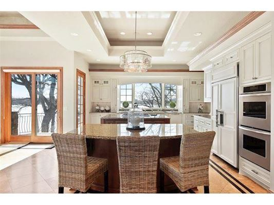 Luxury real estate unique custom home on private peninsula
