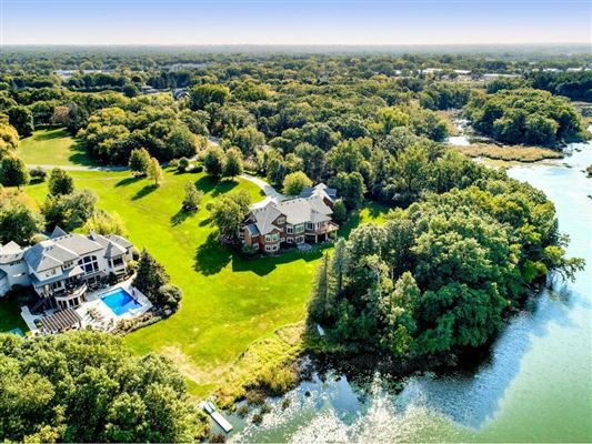 expansive estate on private Gem Lake luxury homes