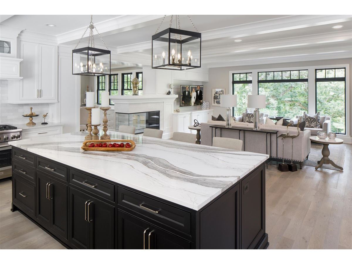 high-end home with spectacular views of Arrow Head Lake luxury homes