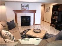 Rush Lake log home with sand beach mansions