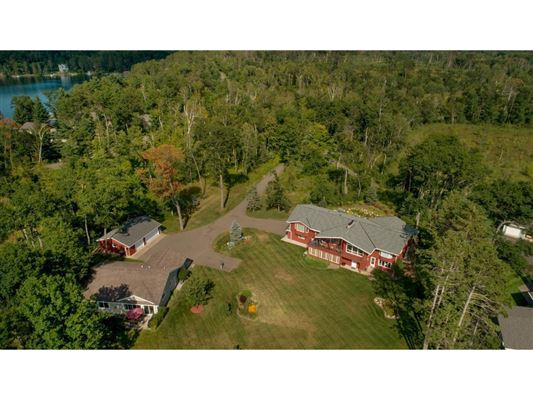 Luxury real estate private nine-acre Gull Lake property