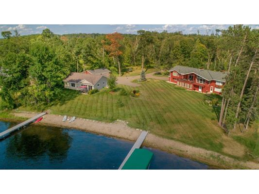 Luxury properties private nine-acre Gull Lake property