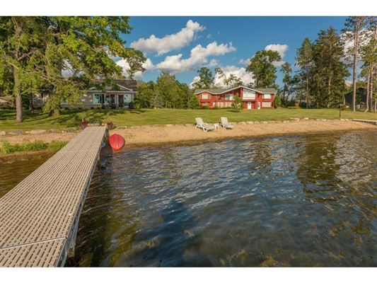 Luxury homes private nine-acre Gull Lake property
