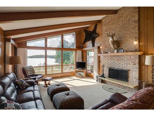 private nine-acre Gull Lake property  luxury real estate