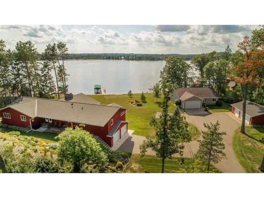 Mansions in private nine-acre Gull Lake property