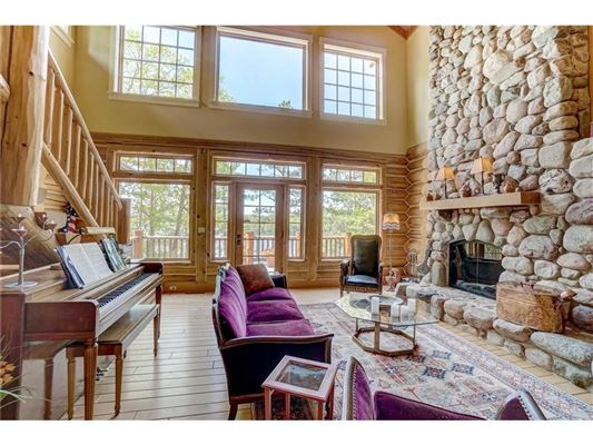 Luxury real estate charming home offers lake views