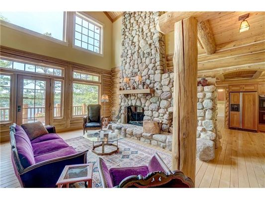 Luxury properties charming home offers lake views