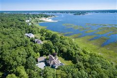 Luxury homes set privately on the shore of Sippican Harbor
