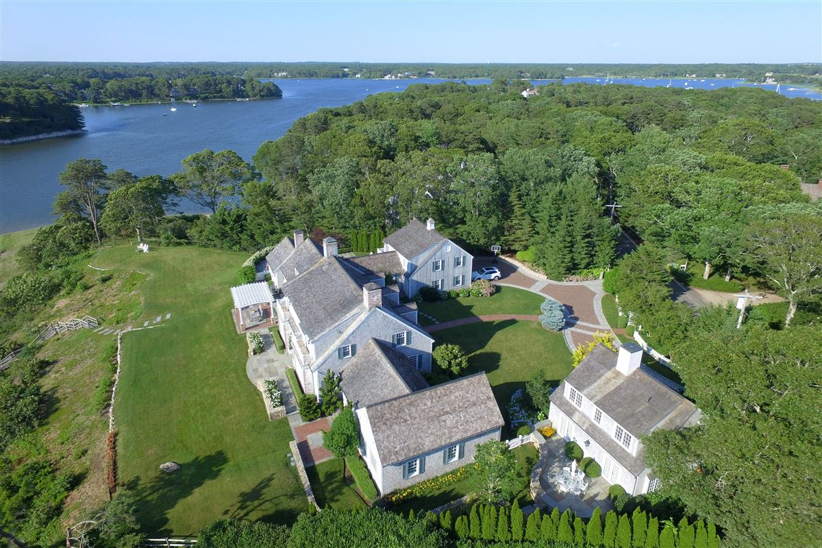 Luxury homes stunning traditional waterfront estate