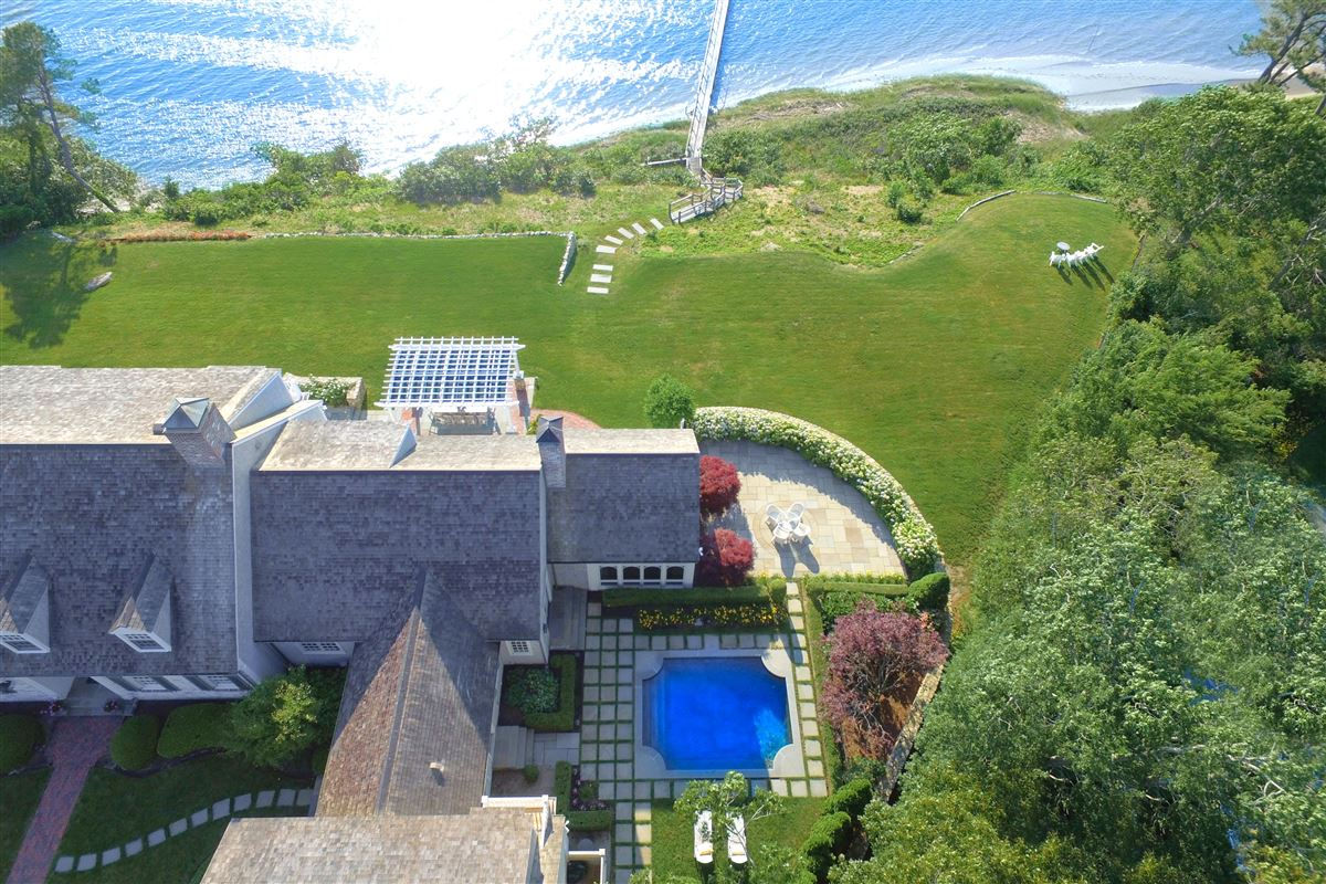 Luxury real estate stunning traditional waterfront estate