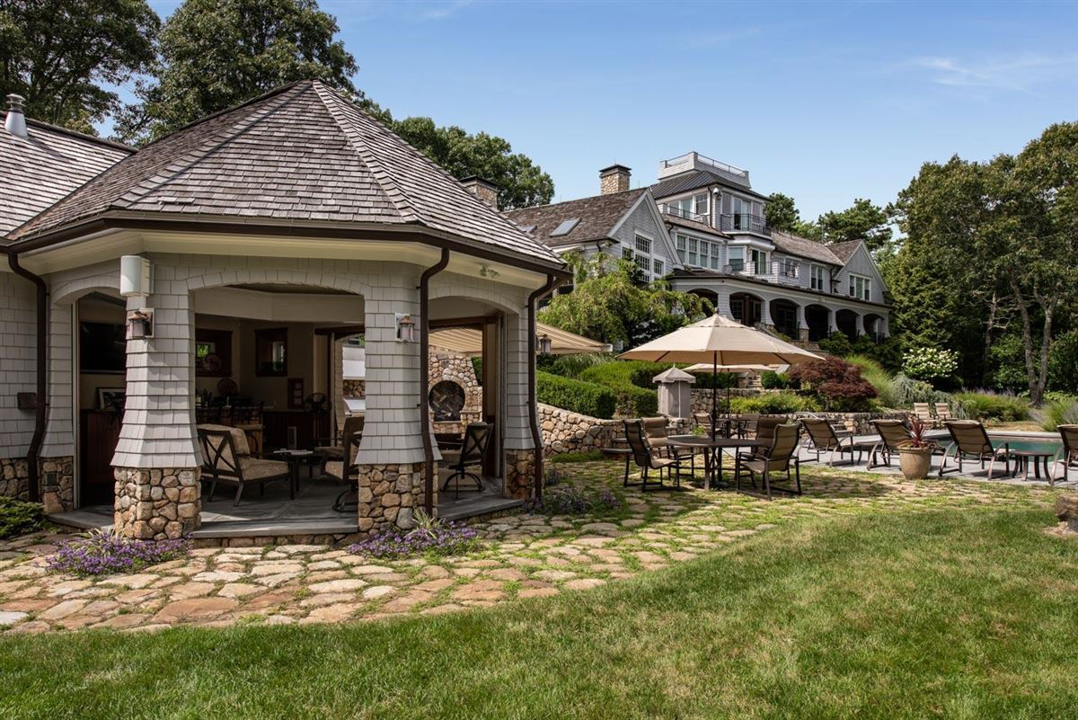 glorious gated estate on Cotuit Bay luxury real estate