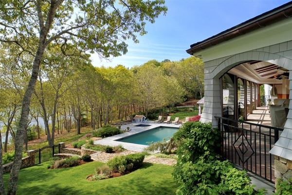Luxury properties glorious gated estate on Cotuit Bay