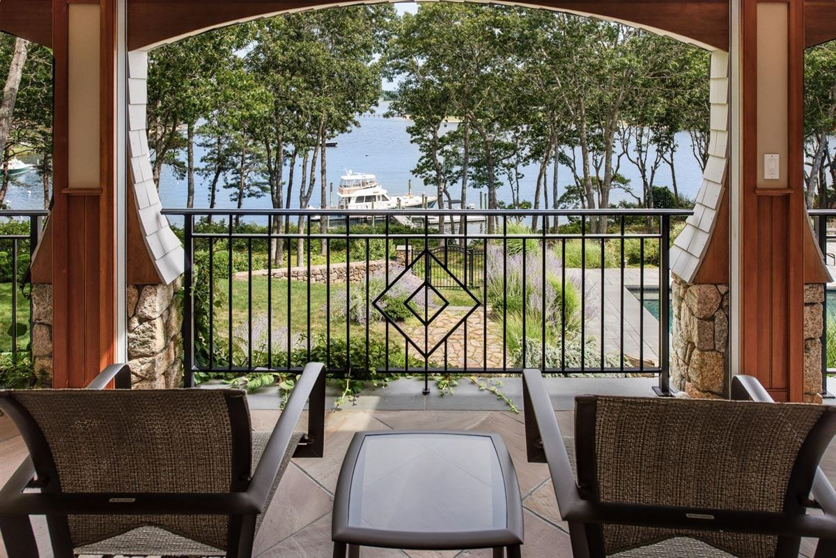 Luxury homes gated waterfront home with glorious bay views