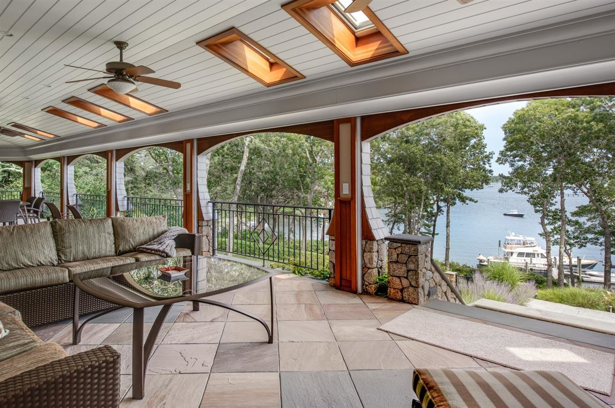 gated waterfront home with glorious bay views luxury homes