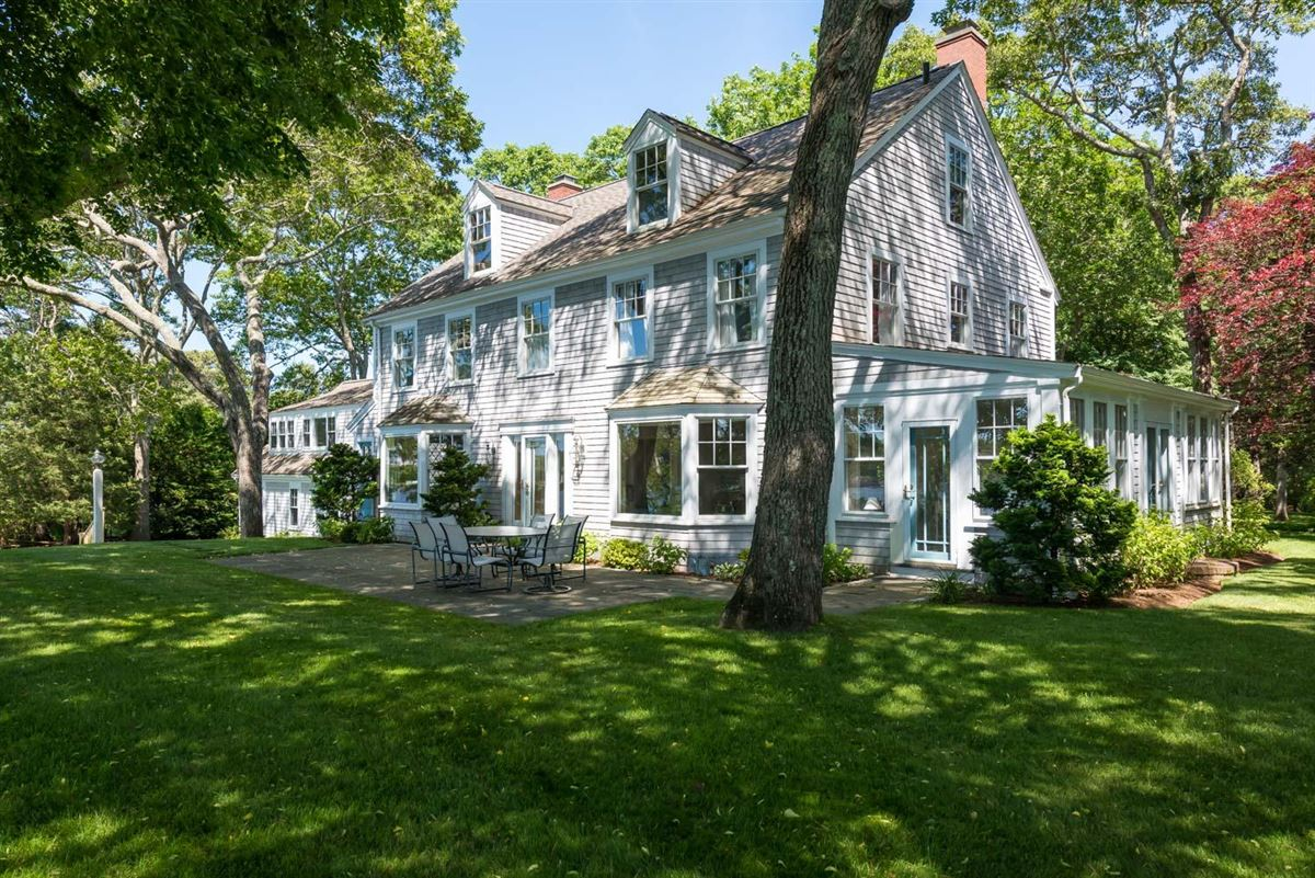 Luxury homes gracious Cotuit Bay waterfront estate