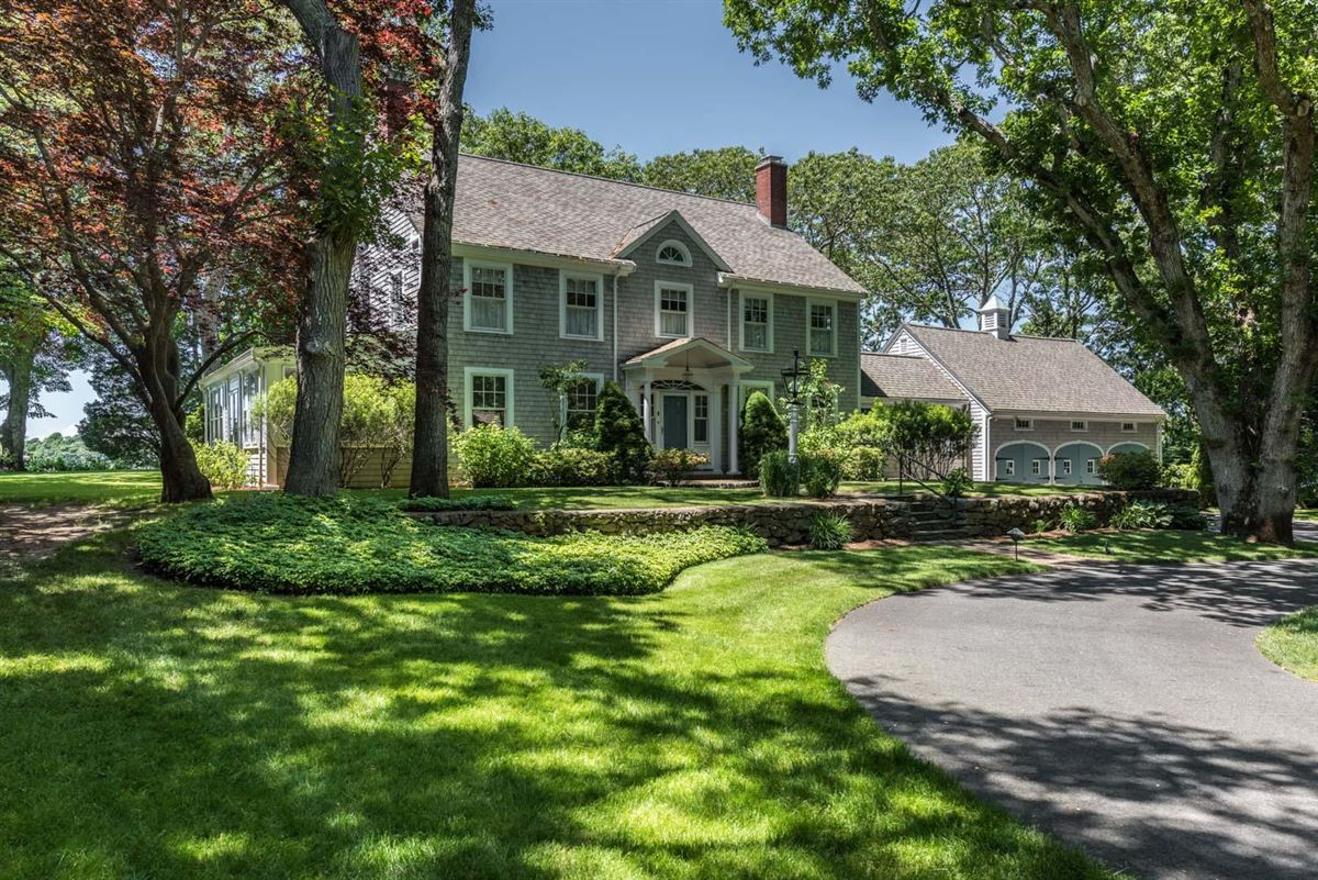 gracious Cotuit Bay waterfront estate luxury homes