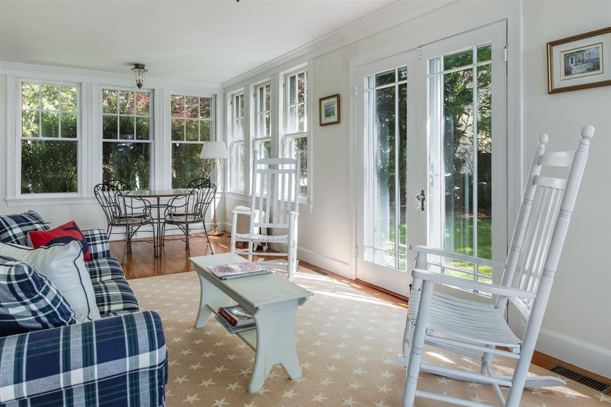 Luxury properties gracious Cotuit Bay waterfront estate