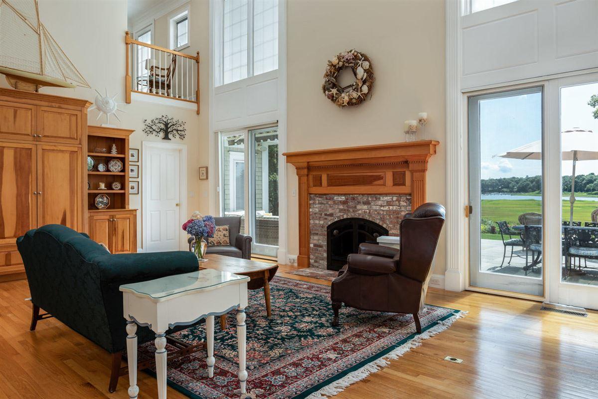 spacious estate overlooking West Bay luxury homes