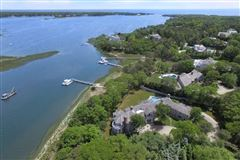 Exceptional waterfront estate in oyster harbors luxury real estate
