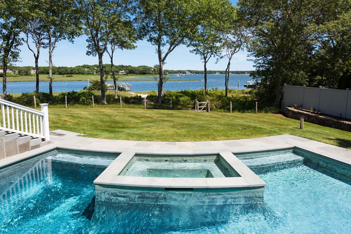 Exceptional waterfront estate in oyster harbors luxury homes