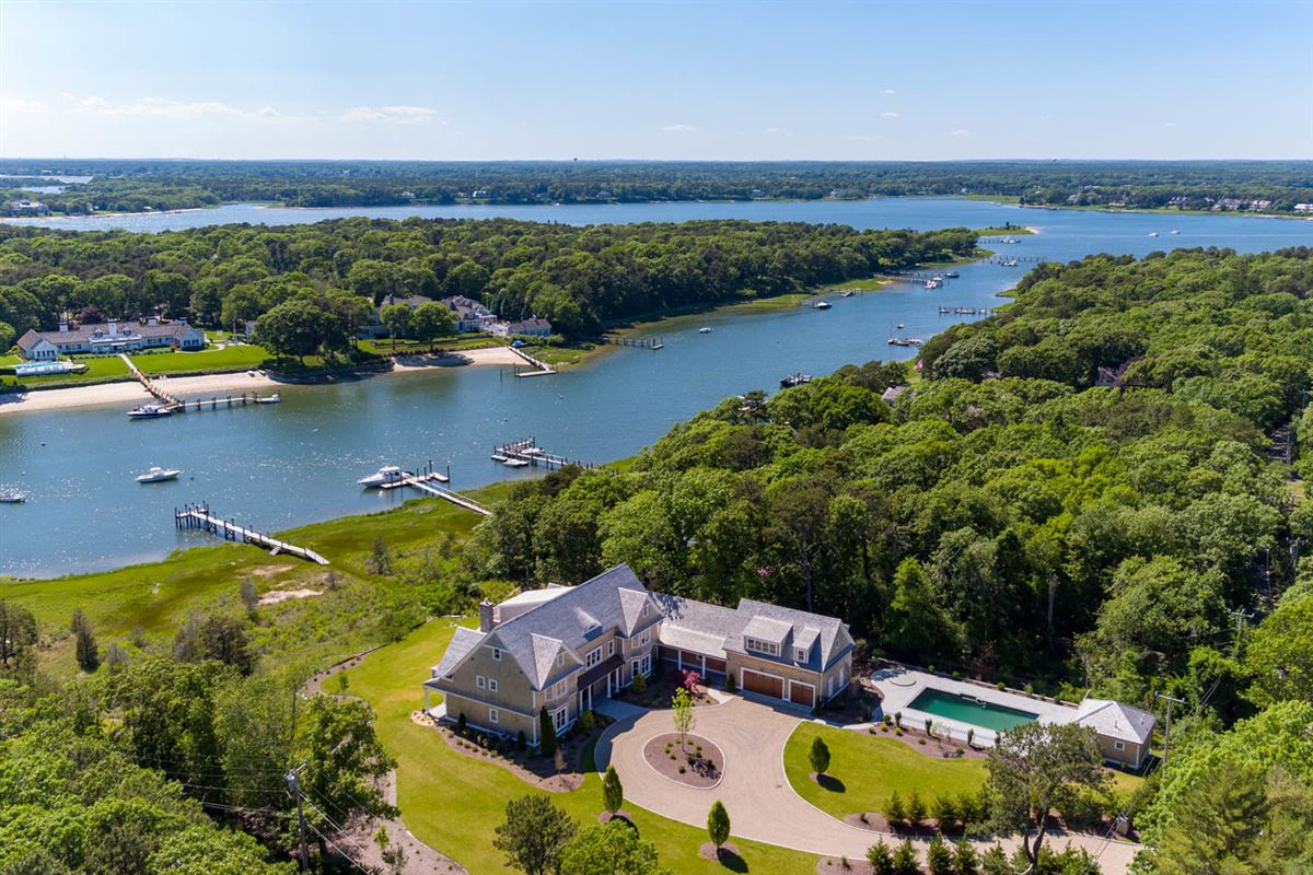 custom designed waterfront home with expansive views mansions