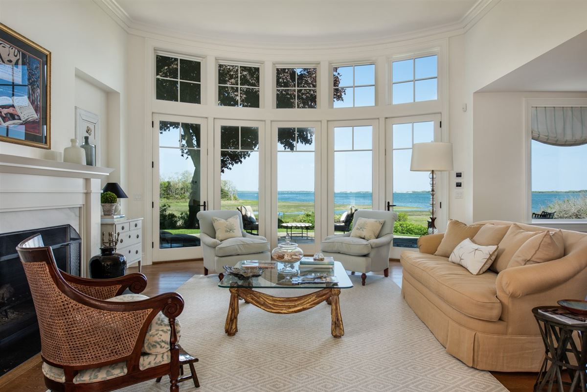 Luxury homes serene and sophisticated waterfront residence