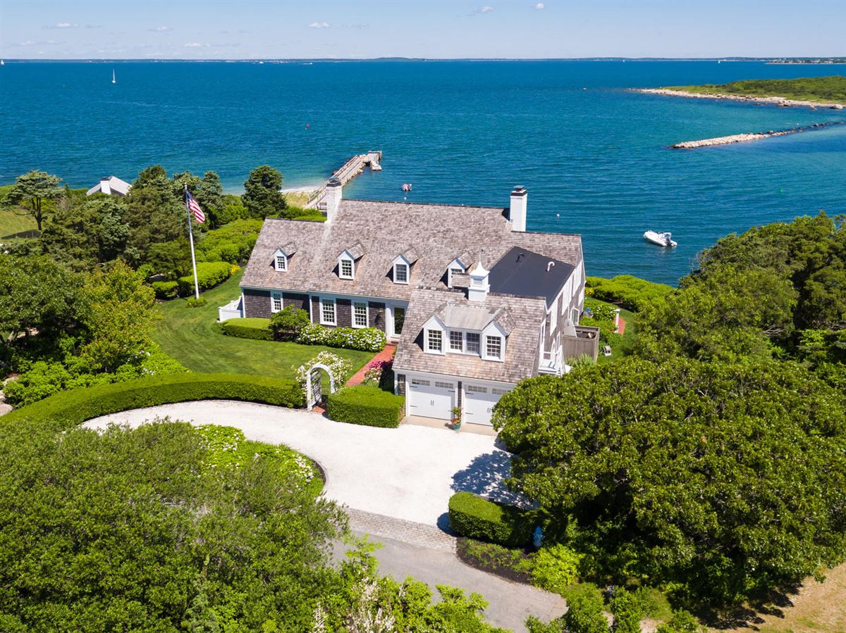 exceptional home on remarkable Chapoquoit Island  mansions