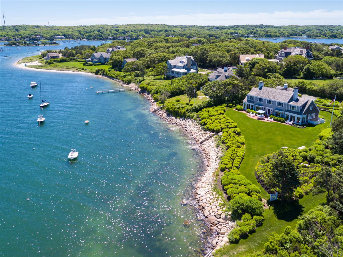 Mansions in exceptional home on remarkable Chapoquoit Island