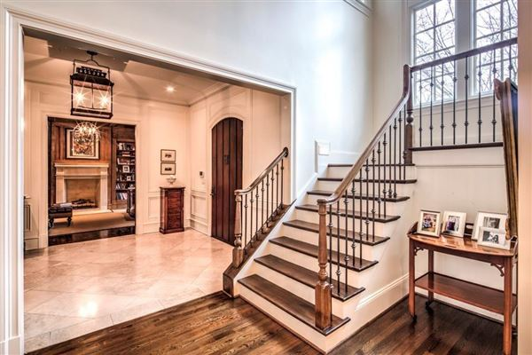 Luxury properties beautifully renovated Buckhead transitional home