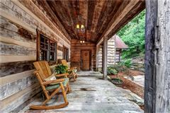 Custom log and timber frame mountain home luxury real estate